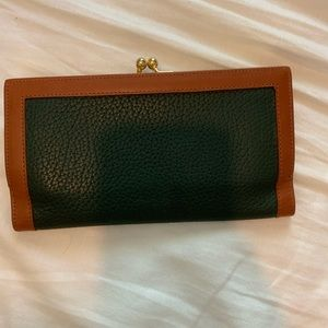 Dooney & Bourke Bags - Dooney & Bourke hunter green and brown wallet